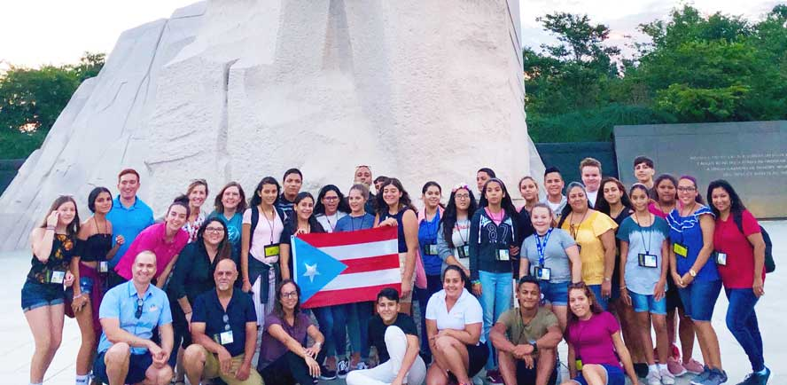 SYTA YOUTH FOUNDATION AND PARTNERS WELCOME  25 PUERTO RICAN STUDENTS FOR A SILVER LINING PROGRAM  TRIP TO WASHINGTON, DC, JULY 20-23, 2018